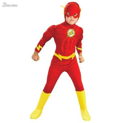 The flash Muscle Kids DC comic Superhero fantasia costume child boy cosplay Suit (Male Superhero Costumes)