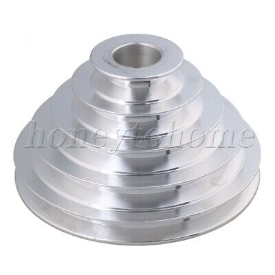 Od 150mm 5 Step Pulley 28mm Hole Dia For Motor Shaft Drive Aluminum