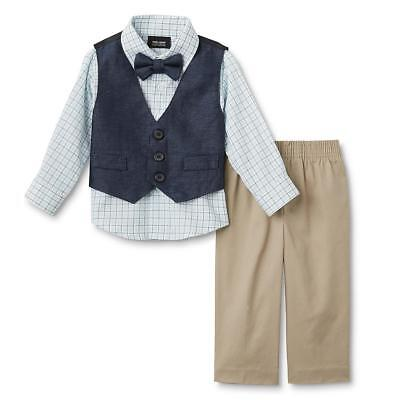 Holiday Editions Infant & Toddler Boys' Vest, Dress Shirt, Tie & Pants - Plaid Boys Holiday Plaid Vest