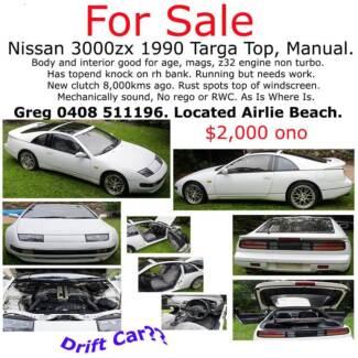 1990 Nissan 300zx Targa Top, Manual - Good Drift Car... Airlie Beach Whitsundays Area Preview