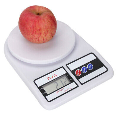 Platform 10KG/1g Kitchen Mail LCD Scale Food Scale Digital Weight Scale White US