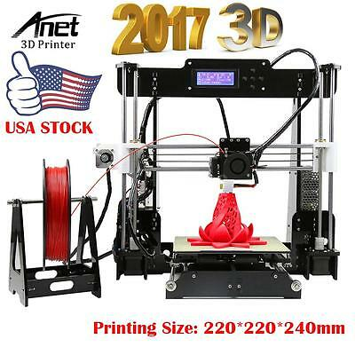 Anet A8 3D Printer Record Precision Reprap i3 DIY Kit & LCD2004 & 8G SD CARD