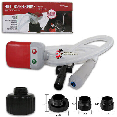 New Battery Powered Tera Pump Trfa01-xl Fuel Transfer Pump Extended Hose Length