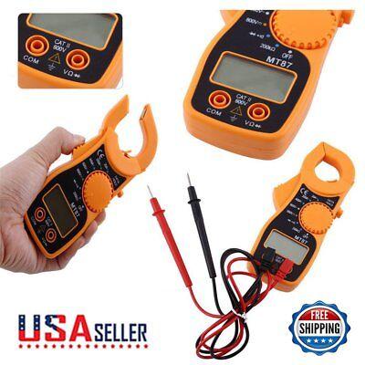 Multimeter Digital Clamp Meter Ac Dc Voltage Voltmeter Ammeter Lcd Ohmmeter Us