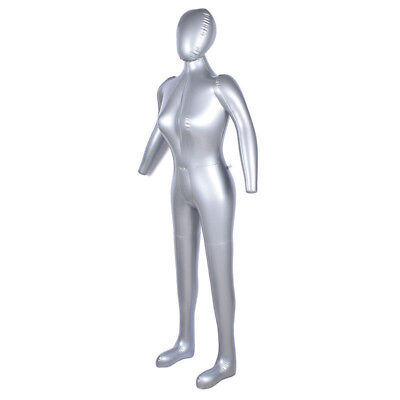Inflatable Full Body Female Model Arm Mannequin Window Display Prop Space Saver