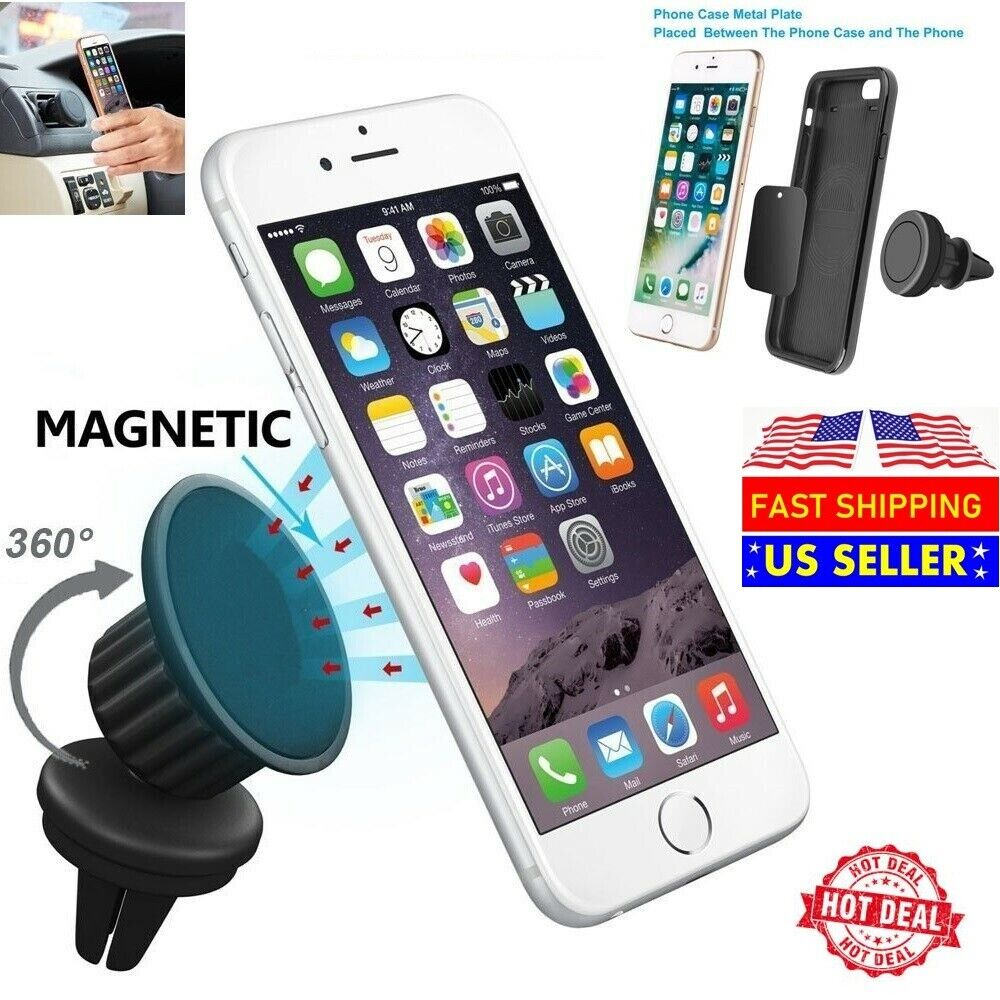 Universal 360° Magnetic Car Vent Mount Cell Phone Holder For iPhone Samsung GPS Cell Phone Accessories
