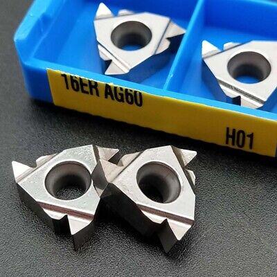 10pc 16er Ag60 H01 Cnc Threading Blade Lathe Turning Carbide Insert For Aluminum