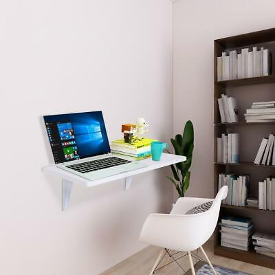 Folding Computer Desk Home Office Study Wall Mount Laptop Table Space Saving