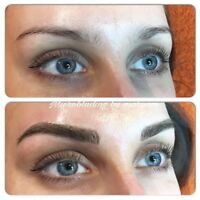 Feathering eyebrows only for $250 by Dec 15th