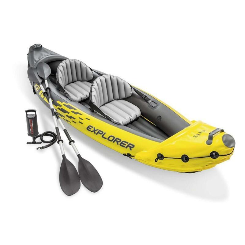 Intex Explorer K2 Kayak, 2-Person Inflatable Kayak Set with Aluminum Oars...