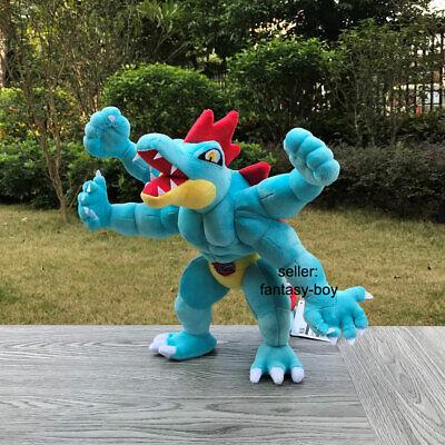 "как выглядит Feraligatr Machamp Fusion 11"" Fuse Plush Game Stuffed Toy Cartoon Doll фото"