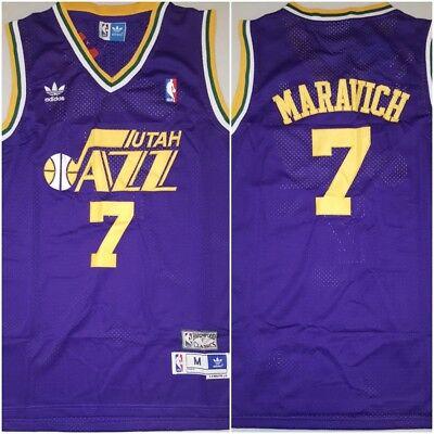 Rare Pete Pistol Maravich Utah Jazz Replica Throwback Medium Basketball Jersey