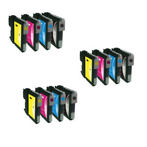 12 Ink For Brother LC1100  DCP-385C DCP-395CN DCP-585CW DCP-6690CW