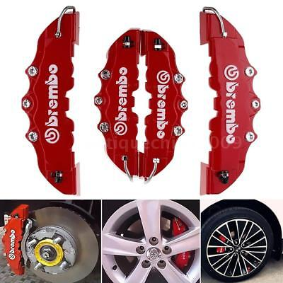 4Pcs Disc Brake 3D Cars Parts Caliper Covers Front Rear Red Car Truck Tool Set
