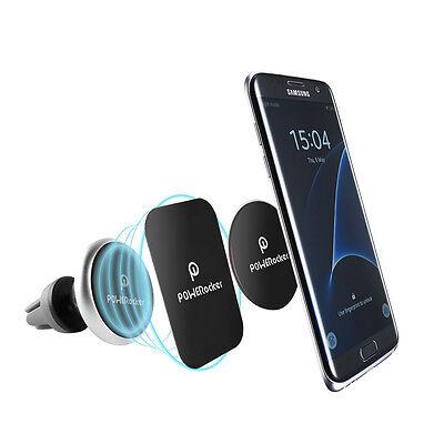 POWERocker Air Vent Magnetic Car Mount 360°Rotatable Phone Holder Cradle