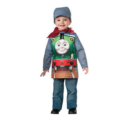 Toddler Deluxe Thomas The Train Percy Halloween Costume - Thomas The Train Halloween Costumes