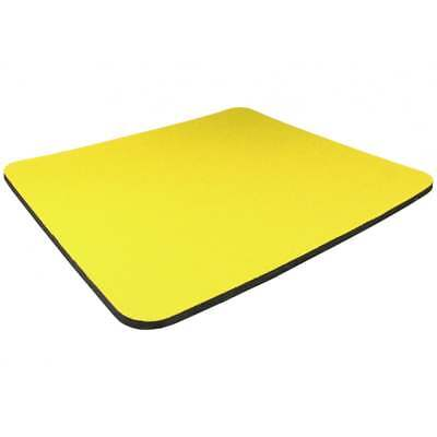 Yellow Quality Mouse Mat Pad Foam Backed Fabric - 5mm 3 For The Price Of 2