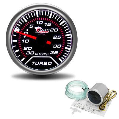 2'' 52mm Turbo Boost 30Psi Pob LED Pressure Pointer Gauge Meter Dials Smoked UK