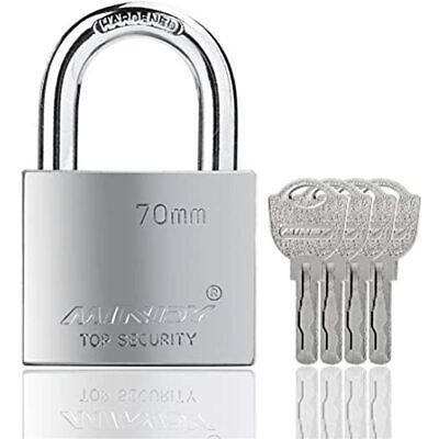 70mm Heavy Duty Lock Warehouse Waterproof Keyed Padlock High Security With 4 -