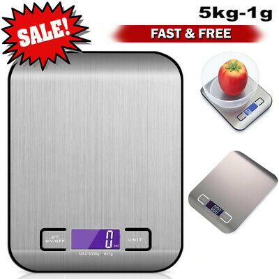 Kitchen Scale Electronic Food Weighing Scale Digital Measuring Gram Accurate En