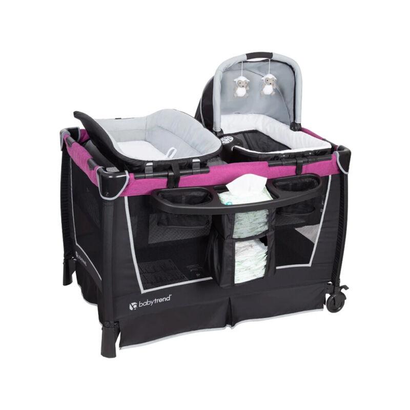 Baby Trend PY75C55C Retreat Portable Nursery Center w/ Changing Table, Purple
