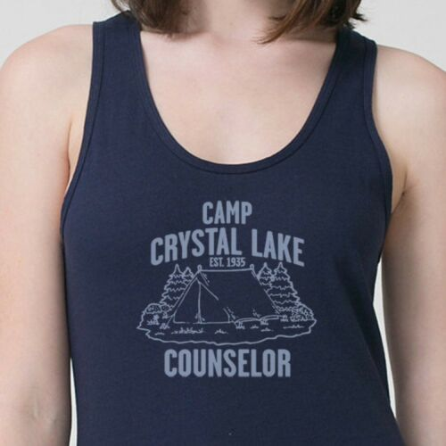 67f5b9d2f7d6 Details about Camp Crystal Lake Counselor T-shirt funny Vintage Horror  movie Adult Tank Top