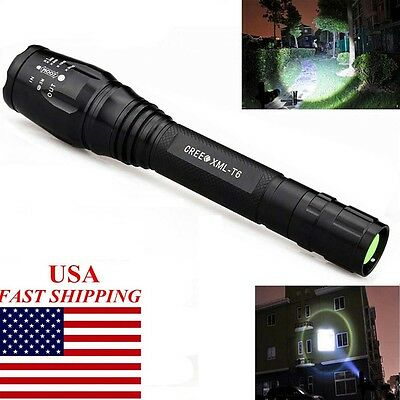 US New Arrival 8000Lumens 5Modes XML-T6 LED Tactical Zoomable Flashlight Lamp