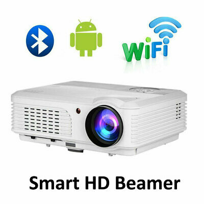 Blue-tooth Android LED Projector Video Home Theater Party HDMI USB PS4 Miracast