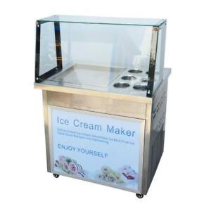 Ice Cream Machine for Fruit,Ice,Milk,Yogurt One Pan with six buckets Ice Cream Roll Maker 220358
