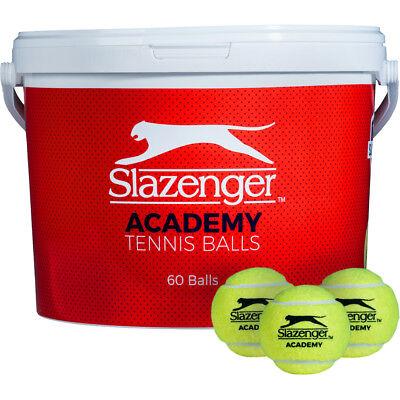 Slazenger Academy 5 Dozen Trainer Tennis Ball Bucket - 60 Balls