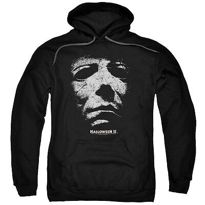 Halloween II Movie Michael Myers MASK Licensed Adult Sweatshirt - Halloween Movie Hoodie