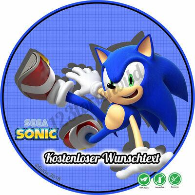 tstag Tortenbild Zuckerbild Oblate Sega Sonic 01 (Sonic Geburtstag)