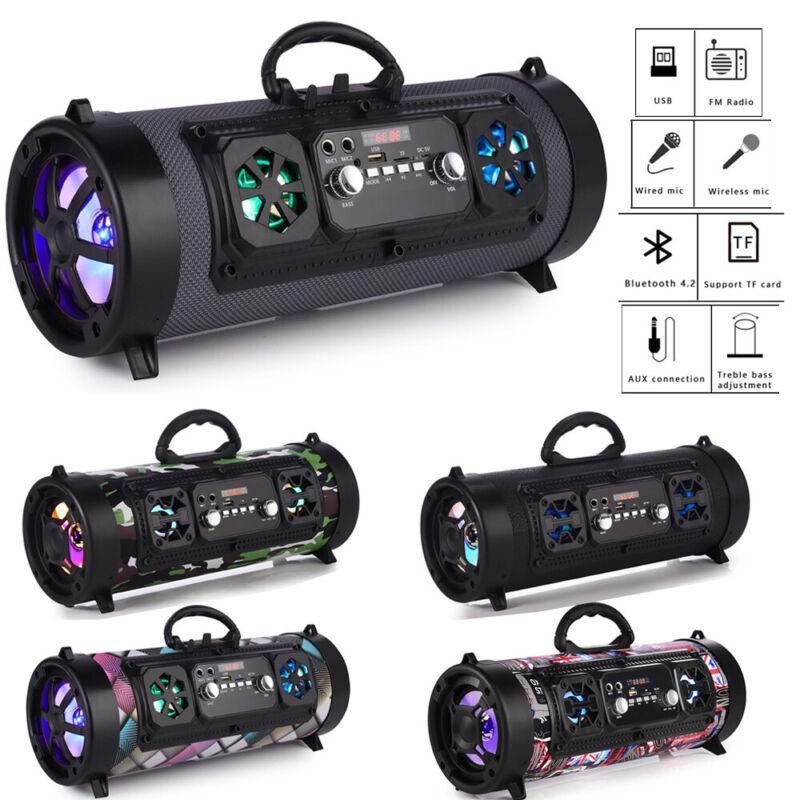 Portable Wireless Bluetooth Speaker Subwoofer Stereo Loud Bass Speaker Column US