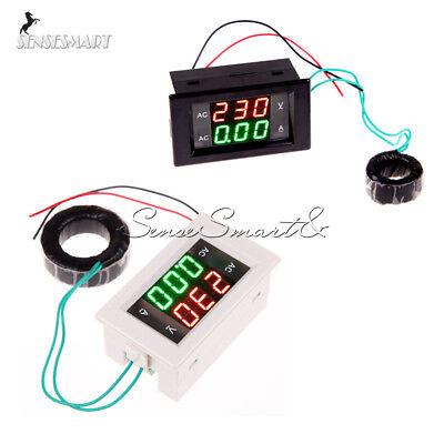 100a 300v 110v 220v Ac Digital Ammeter Voltmeter Lcd Panel Amp Volt Meter