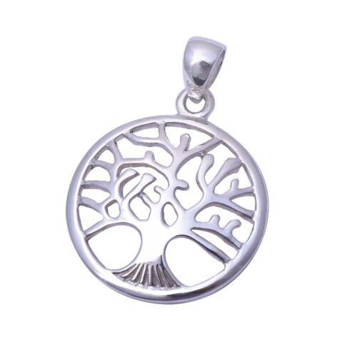 Plain Family Tree  .925 Sterling Silver Pendant