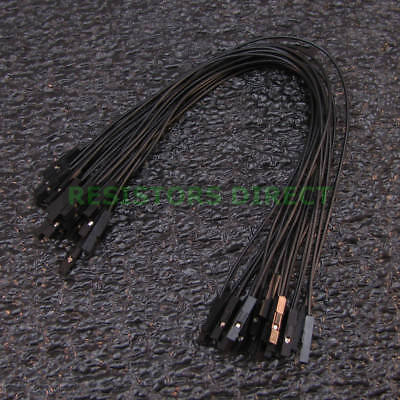 20x 20cm Dupont Black Female To Female 20pcs Breadboard Jumper Wire Arduino W29