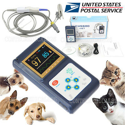 Us Seller Veterinary Pulse Oximeter Spo2 Pr Monitor Vet Tongue Probe Dogcatpet