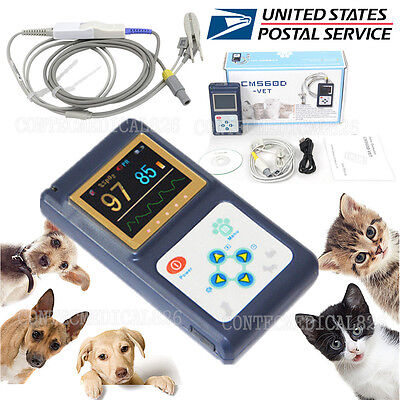 Us Seller Veterinary Pulse Oximeter Spo2 Pr Monitor Vet Tongue Probe Dogcatpet