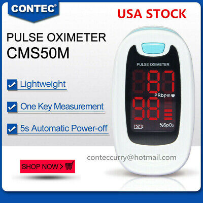 Fingertip Pulse Oximeter Blood Oxygen Meter Spo2 Heart Rate Patient Monitor Usa