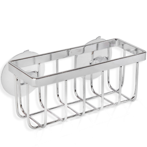 Stainless Steel Kitchen Sink Caddy And Sponge Holder With Strong Suction  Chrome