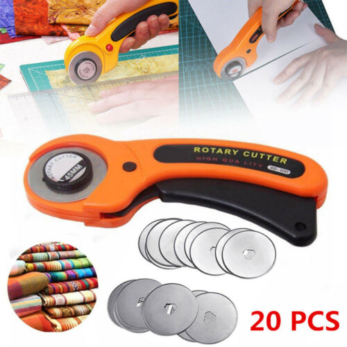 New 20PCS 45mm Rotary Cutter Refill Blades Quilters Sewing Fabric Cutting Tools Crafts