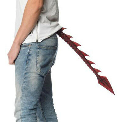 Dragon Tail Costume (Red Dragon Tail Demon Devil Beast Molded Cosplay Adult Costume Accessory)