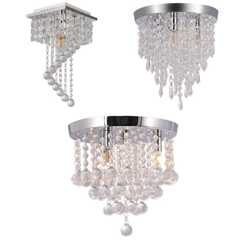 Chandelier 3 Lights Crystal Flush Mount Ceiling Lamp Lampara
