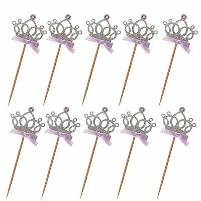 Crown Tiara Cake Topper Cupcake Wedding Decoration Birthday Party Supplies - Tiara Cupcake Toppers