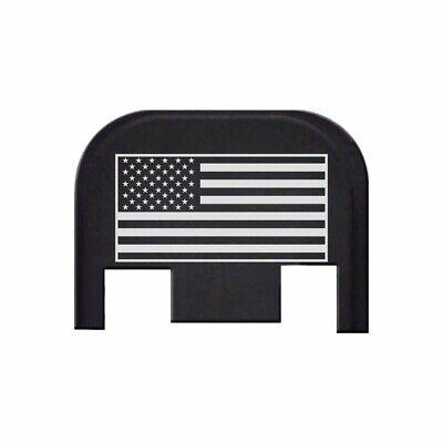 Glock Cover Plate - Rear Slide Cover Plate for Glock Gen 1-5 Models 17-41,45 by BASTION - USA FLAG
