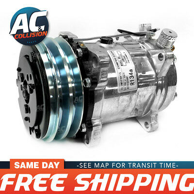 CMU101 Universal A/C Compressor with Black PV2 Clutch Sanden 508 5H14 R134A