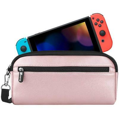 - For Nintendo Switch Carrying Case Protective Sleeve Pouch Bag with Side Pocket