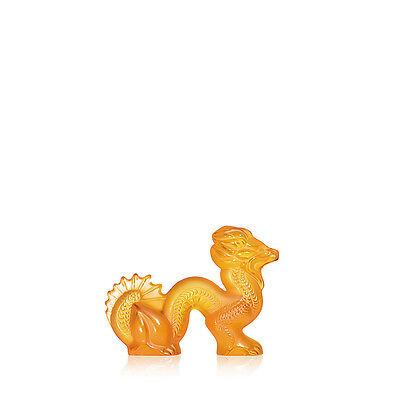 Lalique Dragon Sculpture, Amber