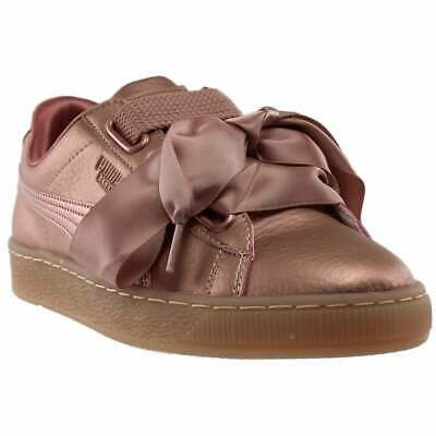 Puma Basket Heart Copper Sneakers Casual    - Brown - Womens