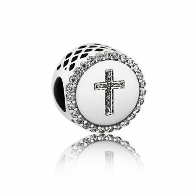 Limited Sale!!!PANDORA Faith Cross Charm Sterling Silver 925 ALE w. Gift Pouch